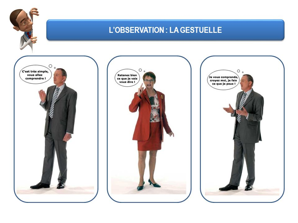 L'OBSERVATION : LA GESTUELLE