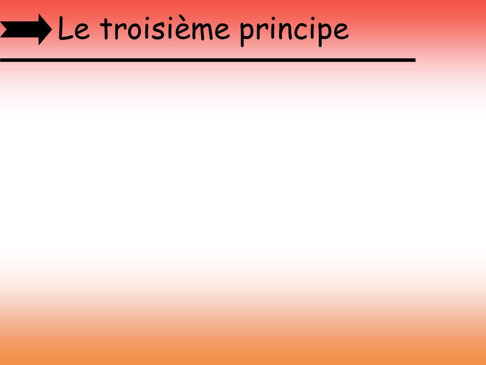 Le troisième principe