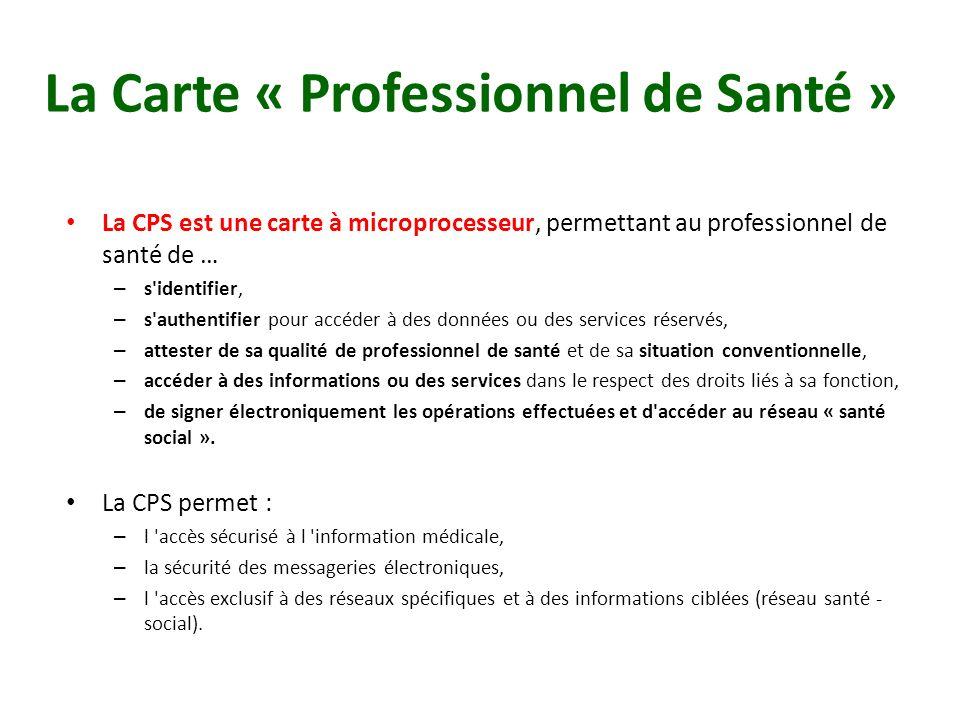 La Carte « Professionnel de Santé »