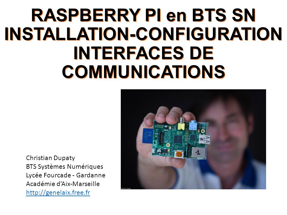 RASPBERRY PI en BTS SN INSTALLATION-CONFIGURATION INTERFACES DE COMMUNICATIONS