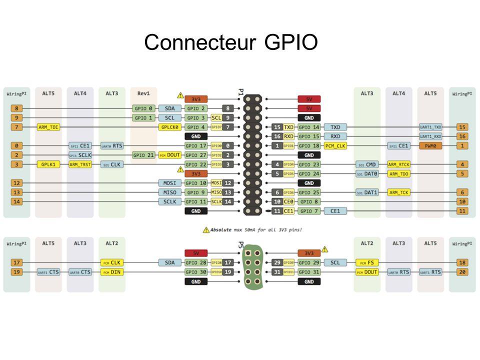 Connecteur GPIO