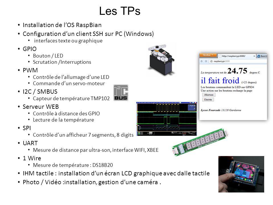 Les TPs Installation de l'OS RaspBian