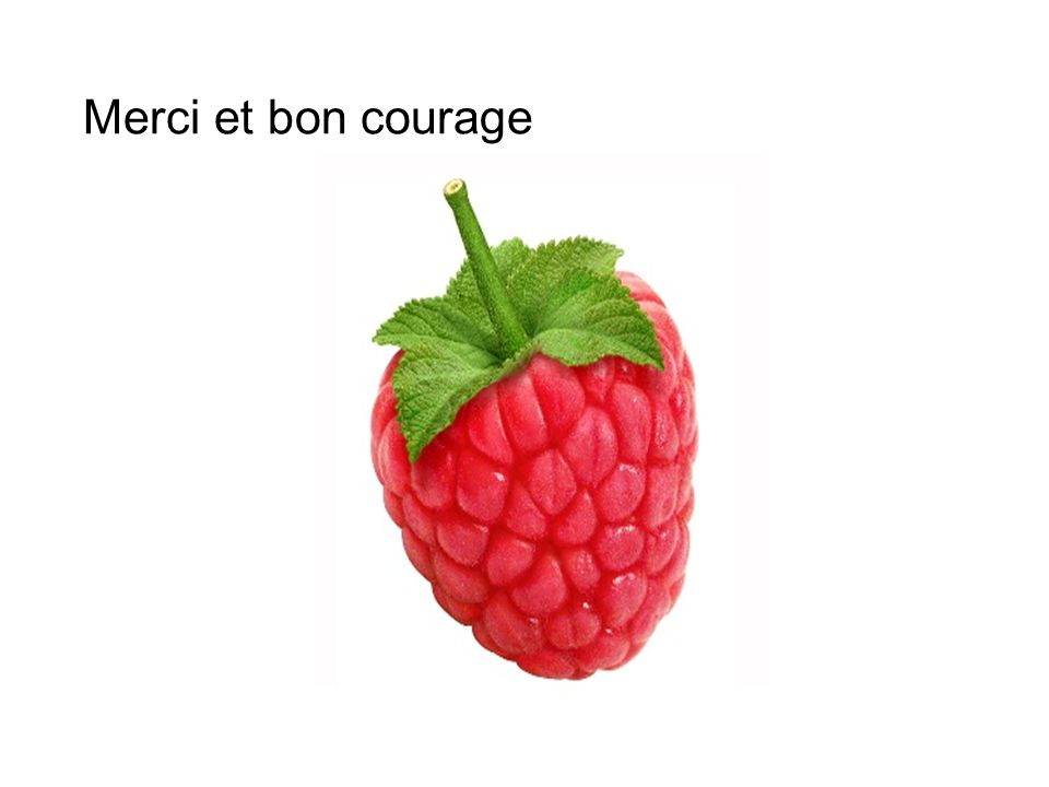 Merci et bon courage
