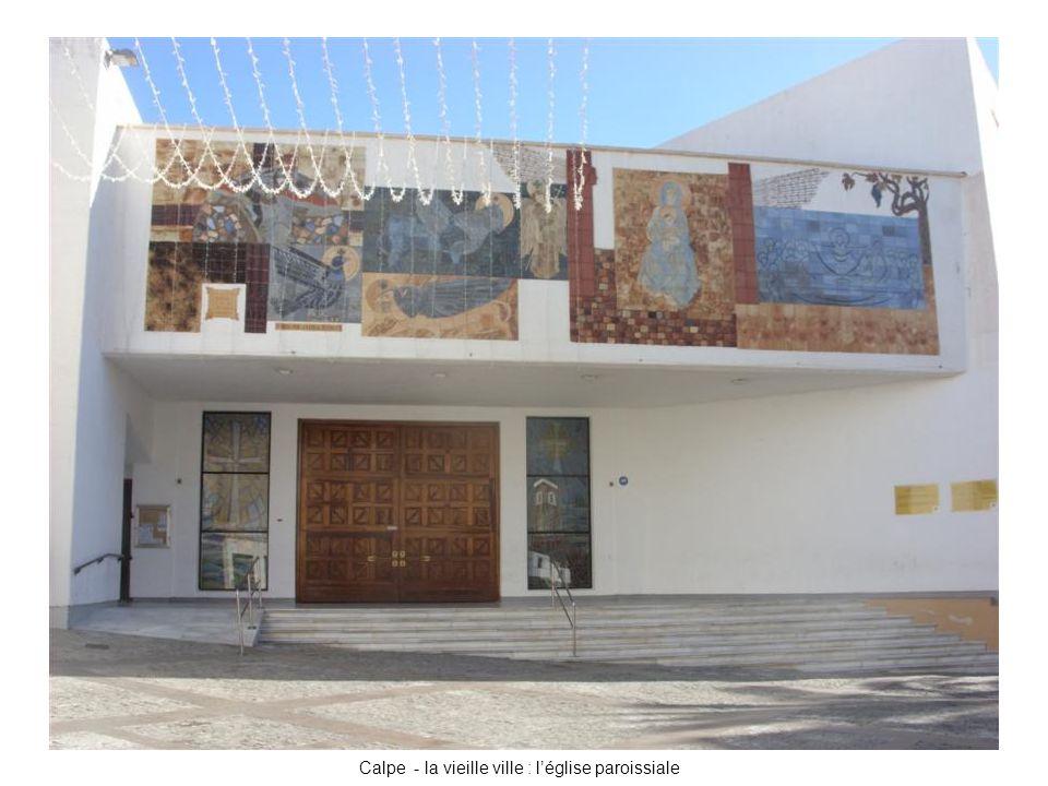 Calpe - la vieille ville : l'église paroissiale
