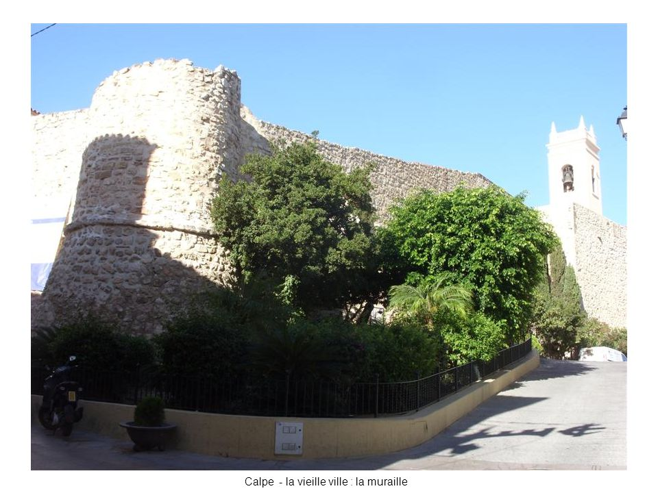 Calpe - la vieille ville : la muraille