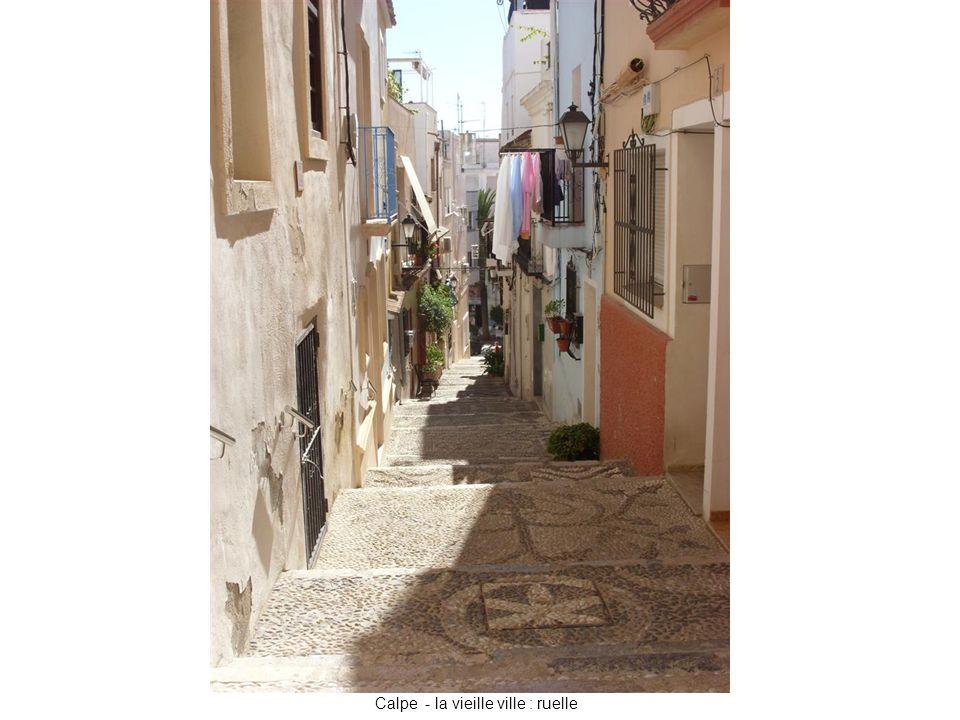 Calpe - la vieille ville : ruelle