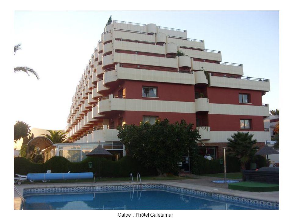 Calpe : l'hôtel Galetamar