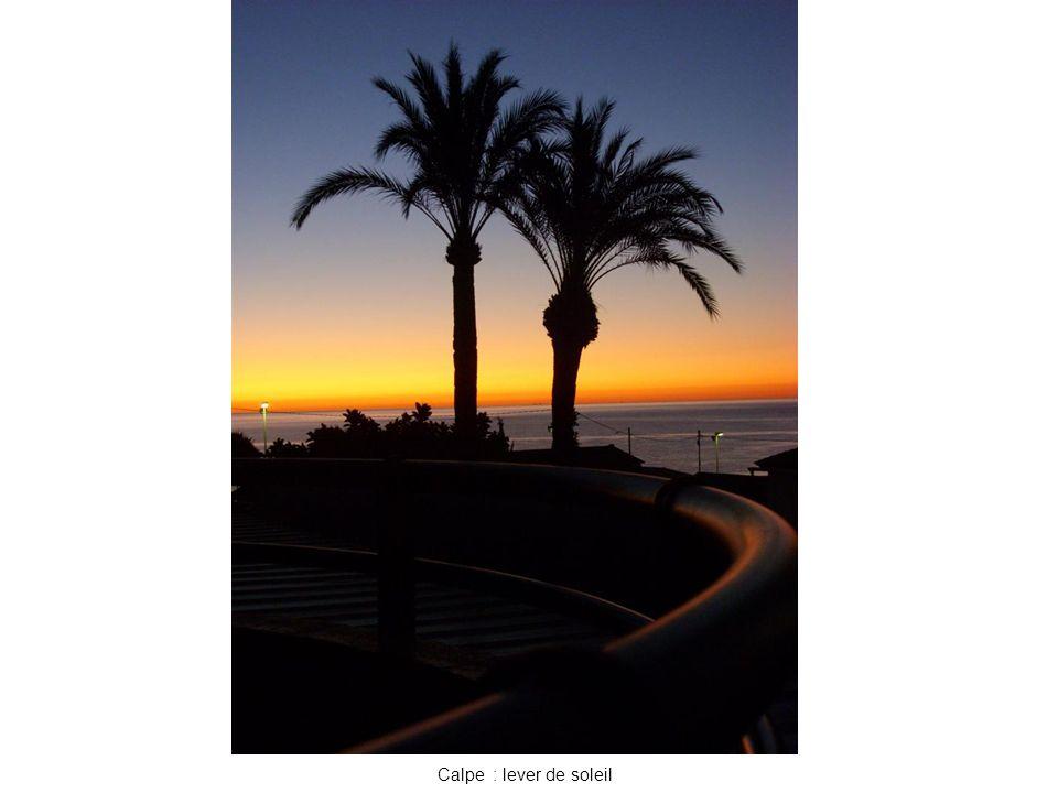 Calpe : lever de soleil