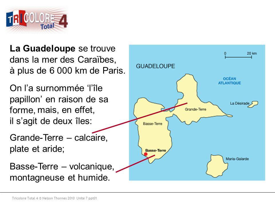 La Guadeloupe se trouve dans la mer des Caraïbes,