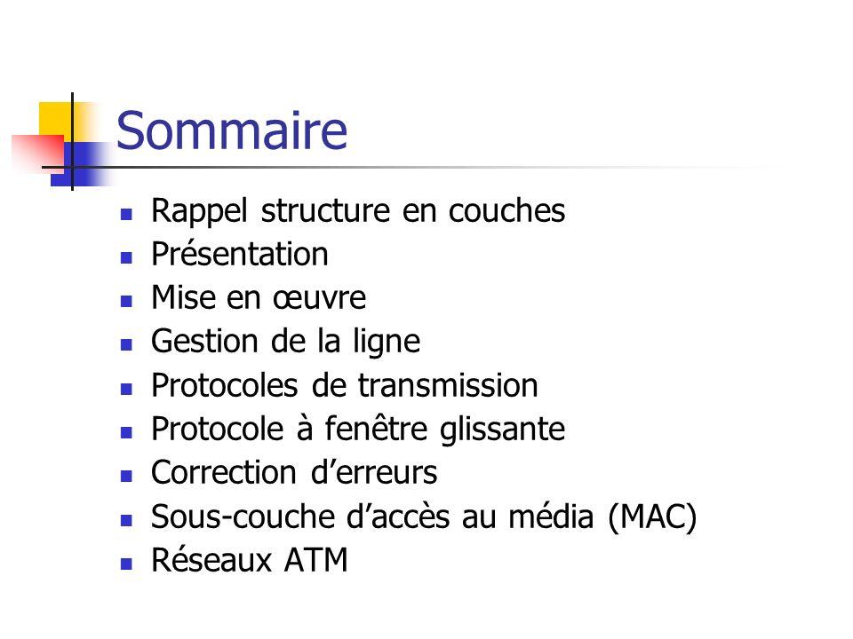 Sommaire Rappel structure en couches Présentation Mise en œuvre