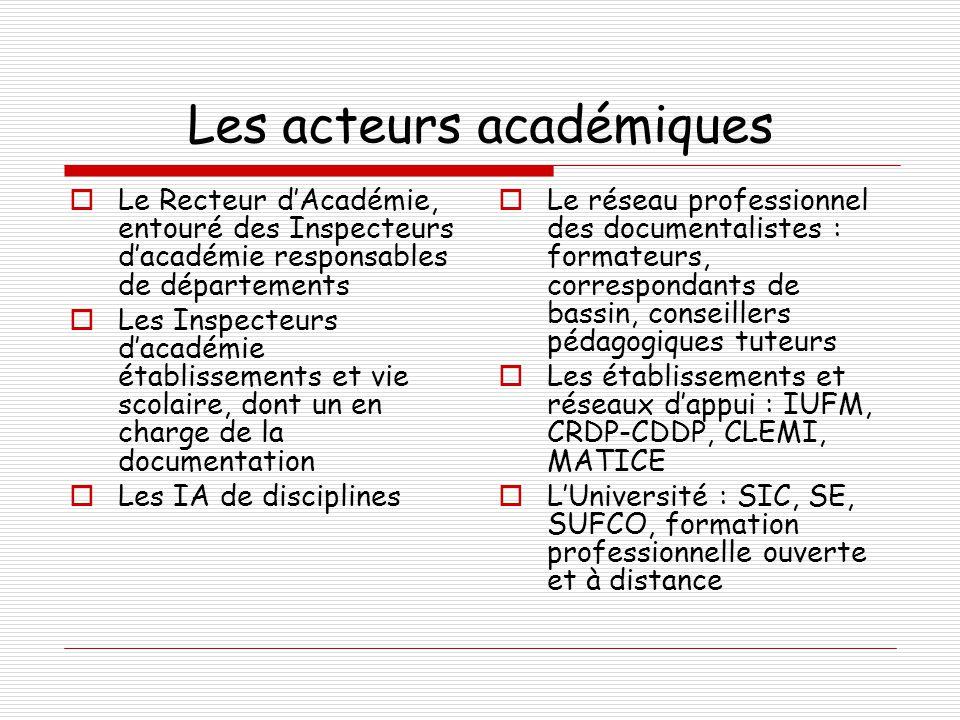Les acteurs académiques