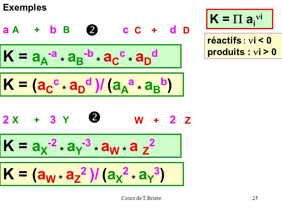 K = (aCc * aDd )/ (aAa * aBb)