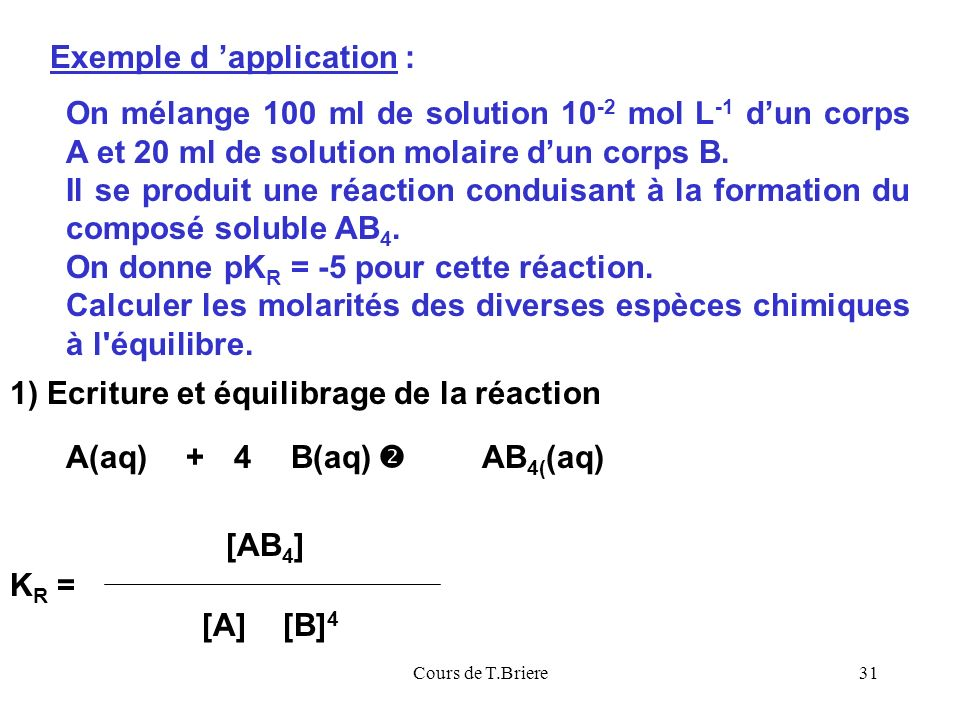 Exemple d 'application :