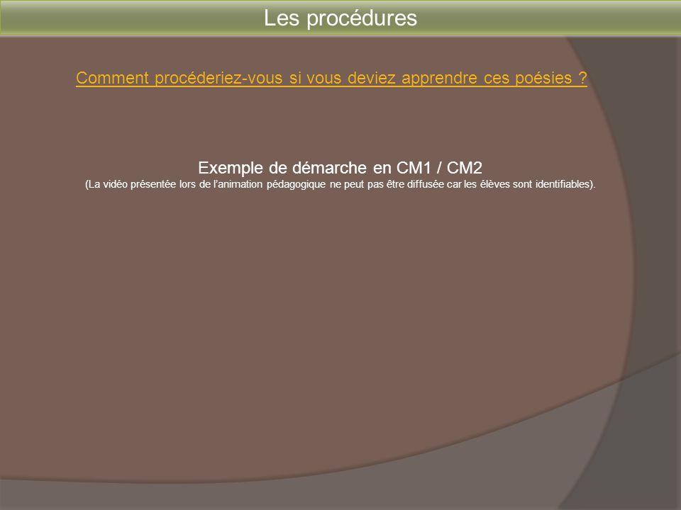 Exemple de démarche en CM1 / CM2