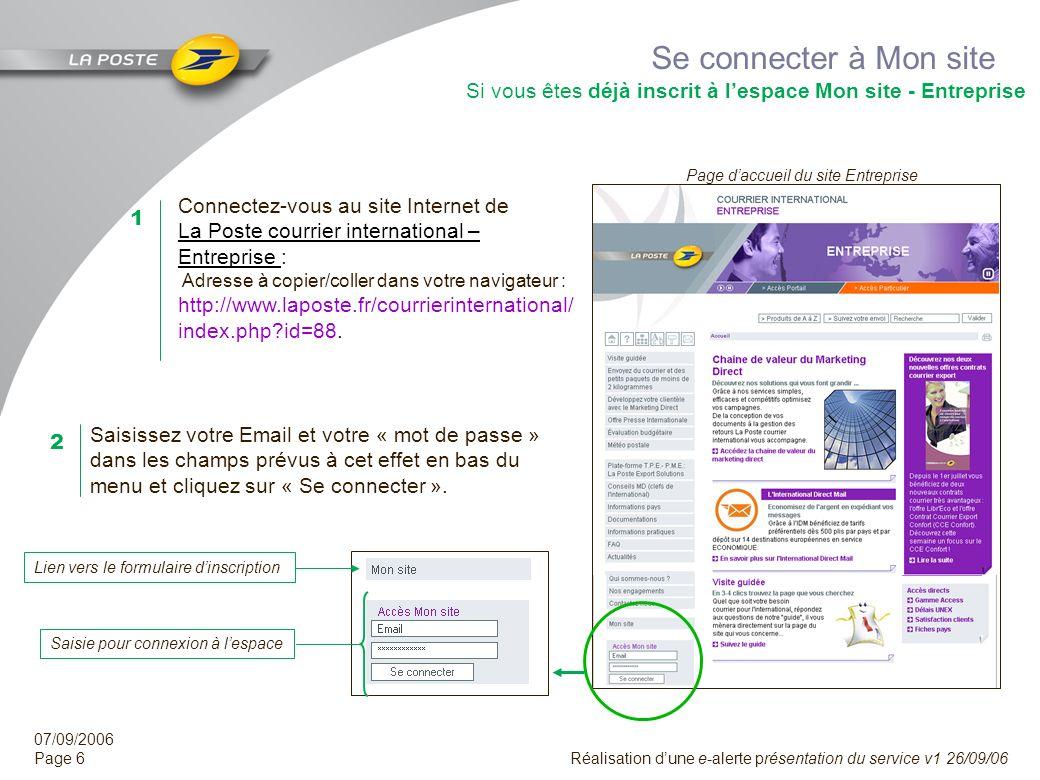 Se connecter à Mon site Si vous êtes déjà inscrit à l'espace Mon site - Entreprise. Page d'accueil du site Entreprise.