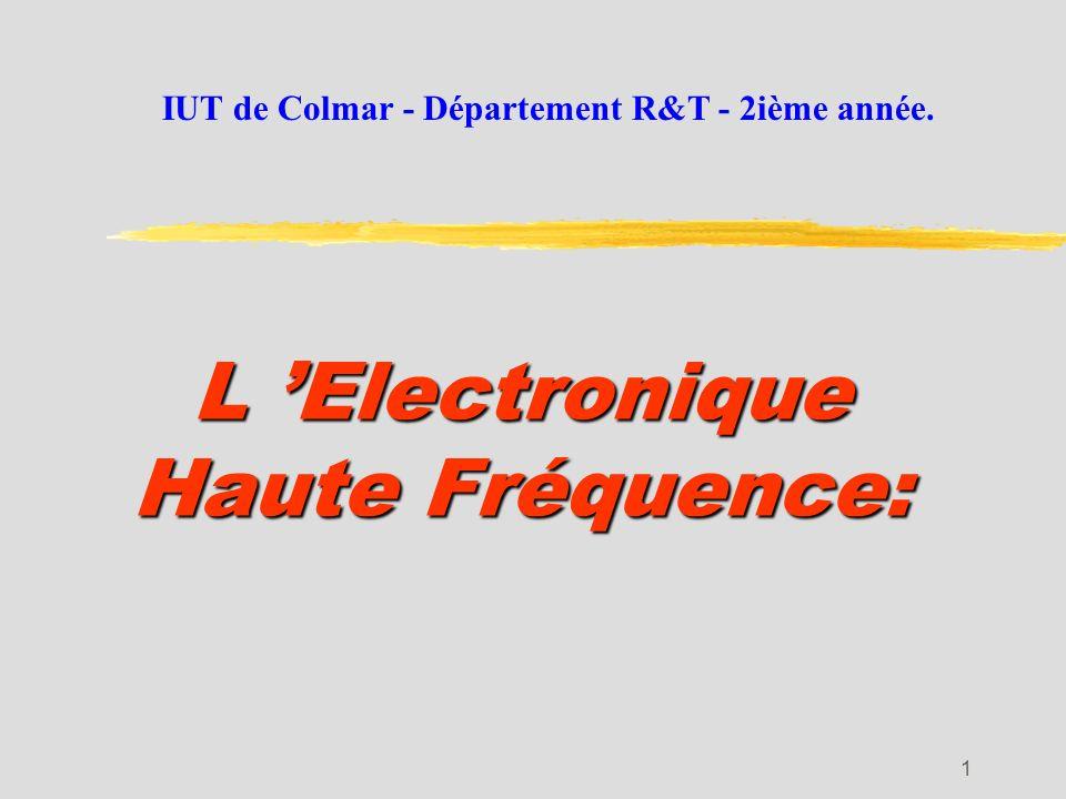 L 'Electronique Haute Fréquence:
