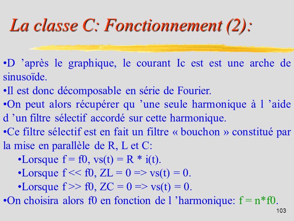 La classe C: Fonctionnement (2):