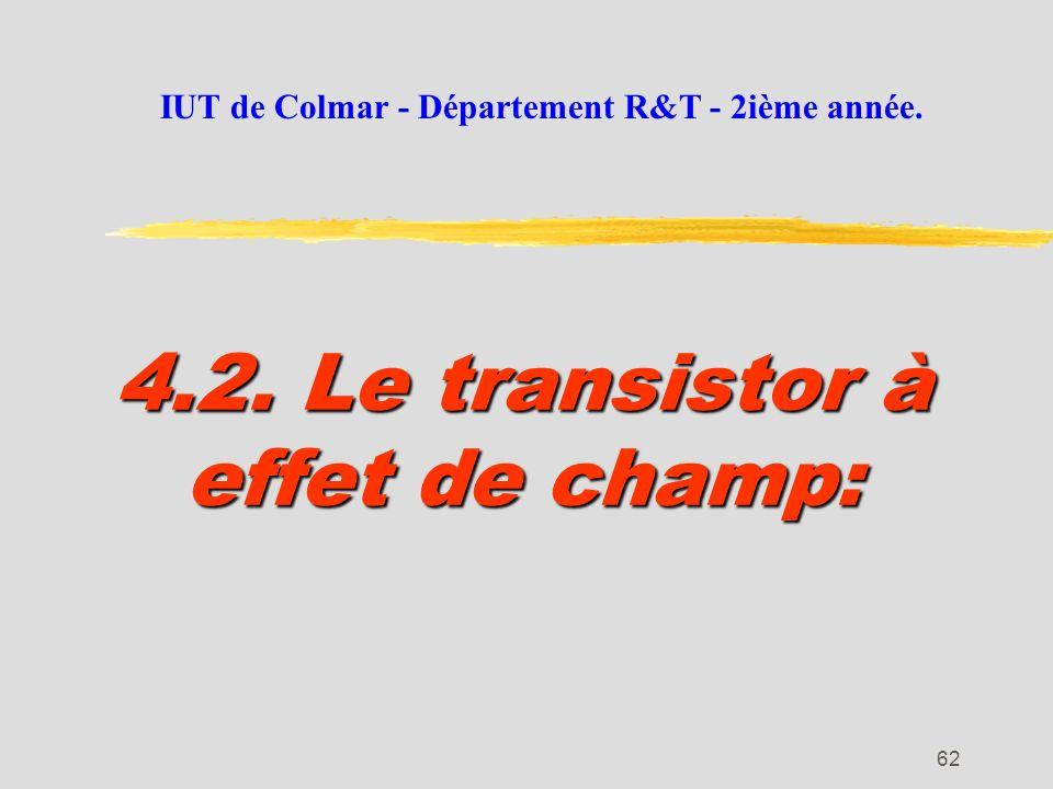 4.2. Le transistor à effet de champ: