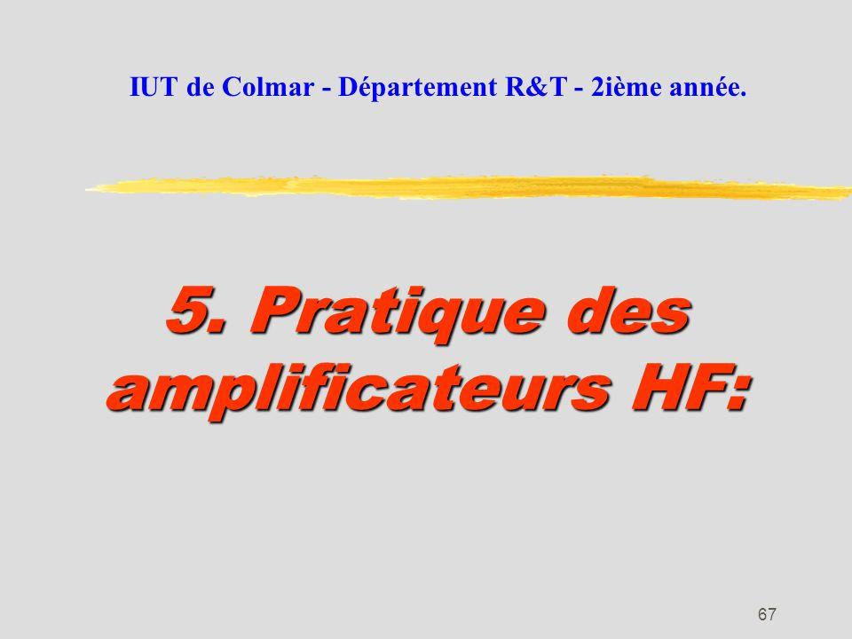 5. Pratique des amplificateurs HF: