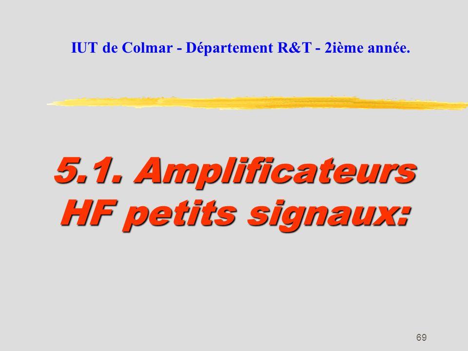 5.1. Amplificateurs HF petits signaux: