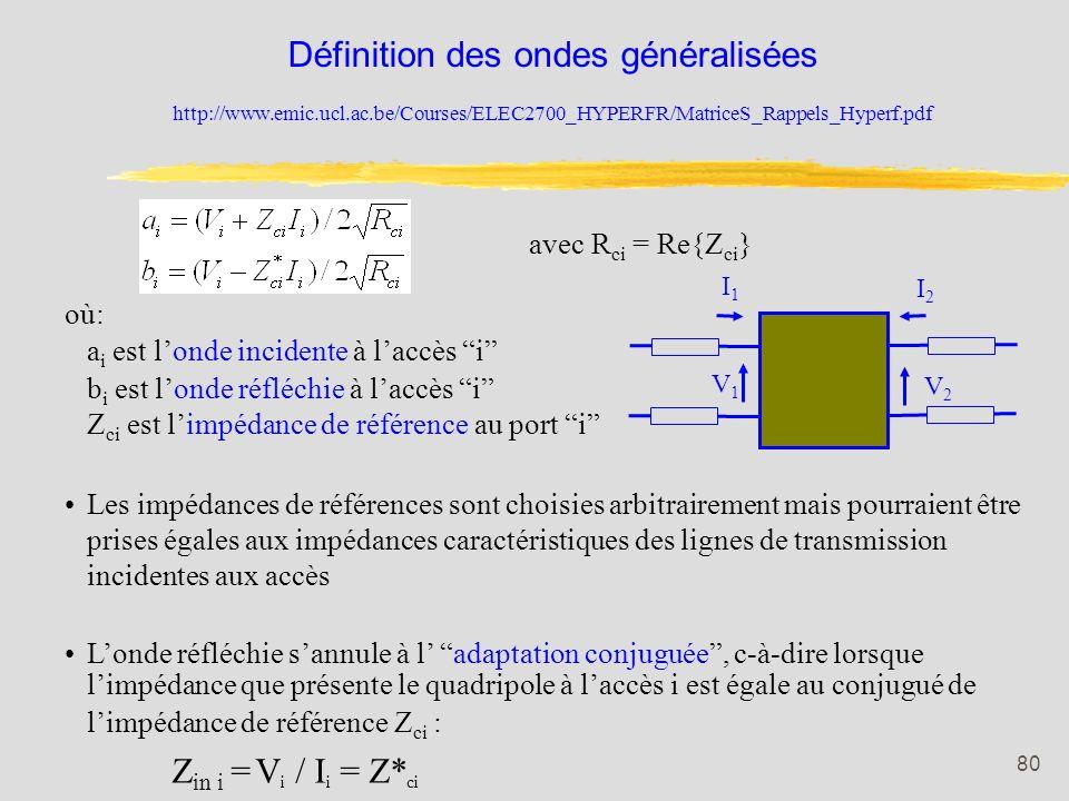 Définition des ondes généralisées