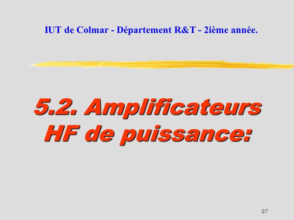 5.2. Amplificateurs HF de puissance:
