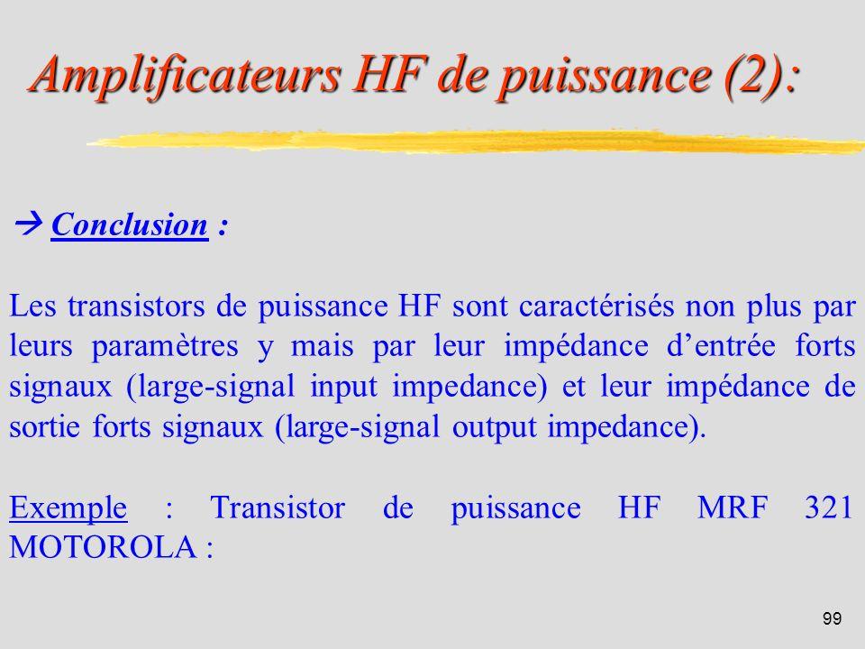 Amplificateurs HF de puissance (2):