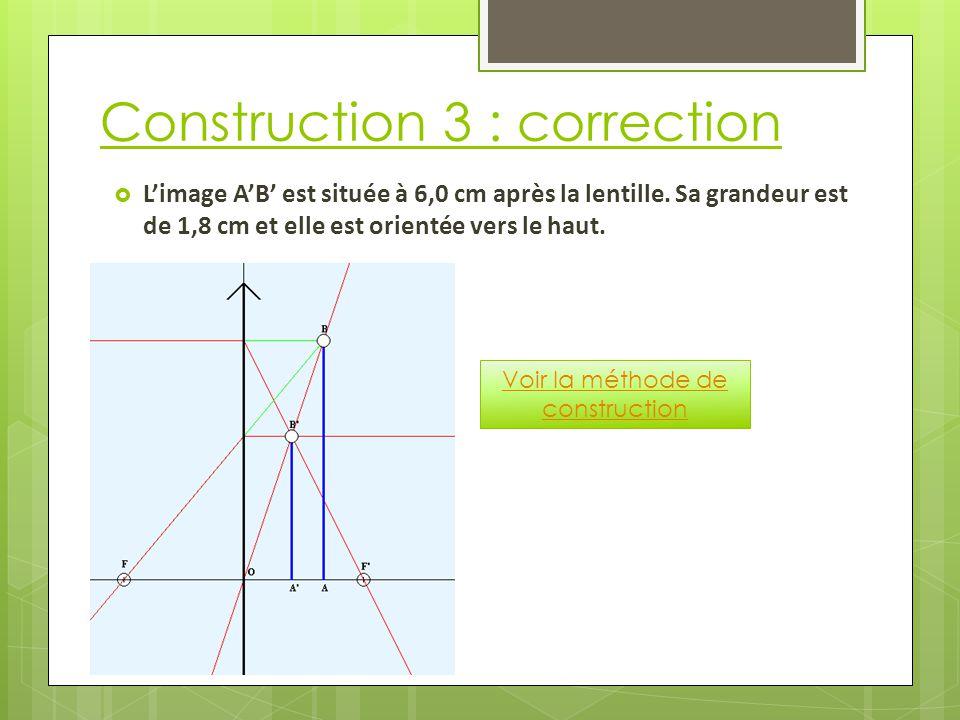 Construction 3 : correction