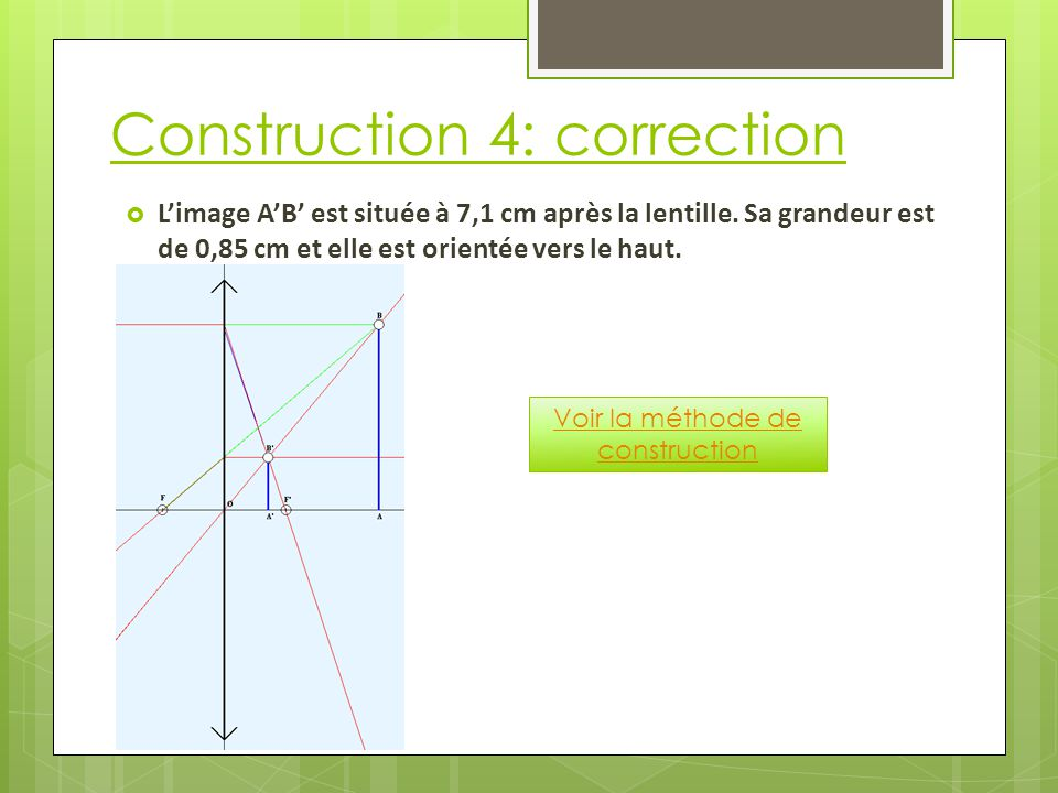 Construction 4: correction