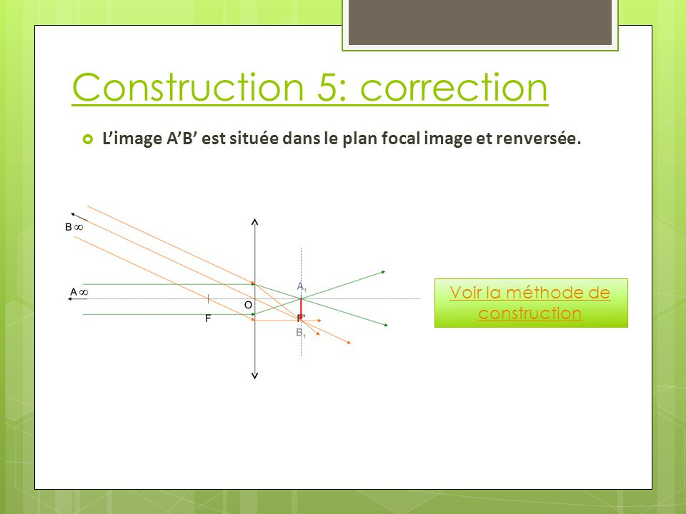 Construction 5: correction