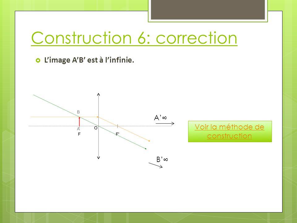 Construction 6: correction