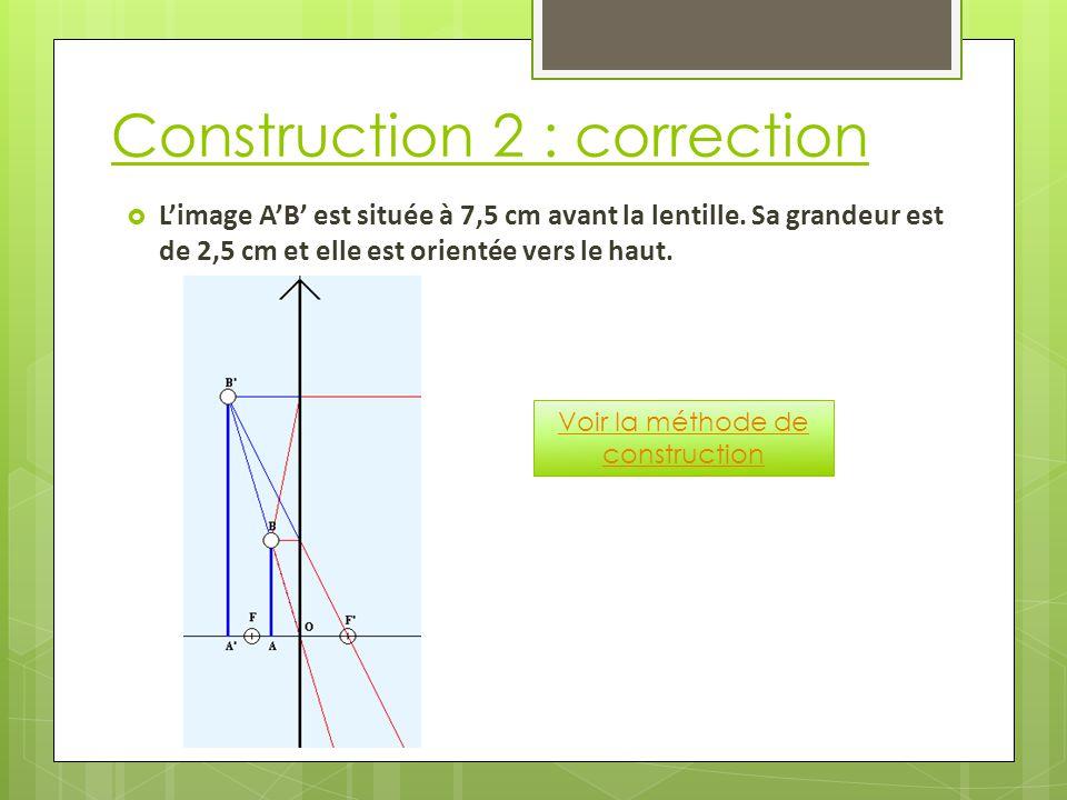 Construction 2 : correction