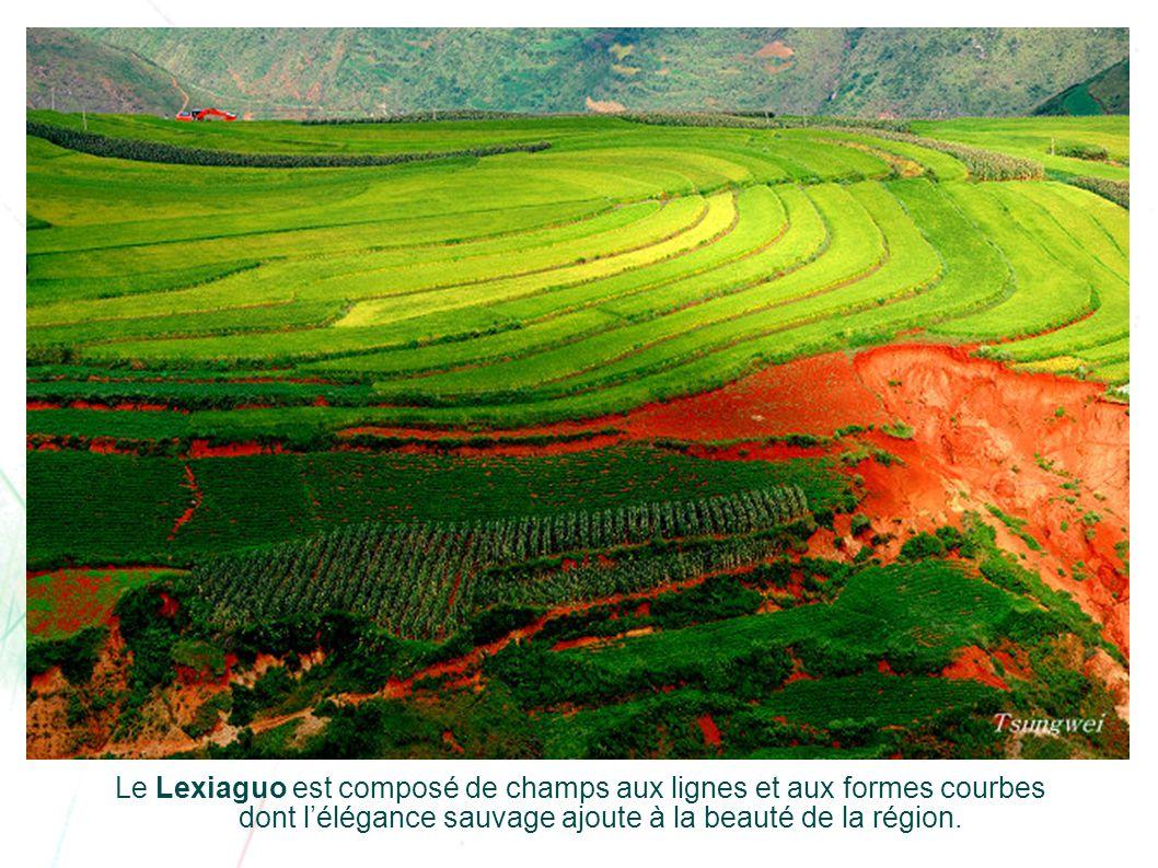 Le Lexiaguo est composé de champs aux lignes et aux formes courbes dont l'élégance sauvage ajoute à la beauté de la région.