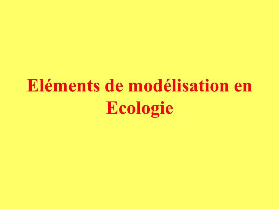 Eléments de modélisation en Ecologie