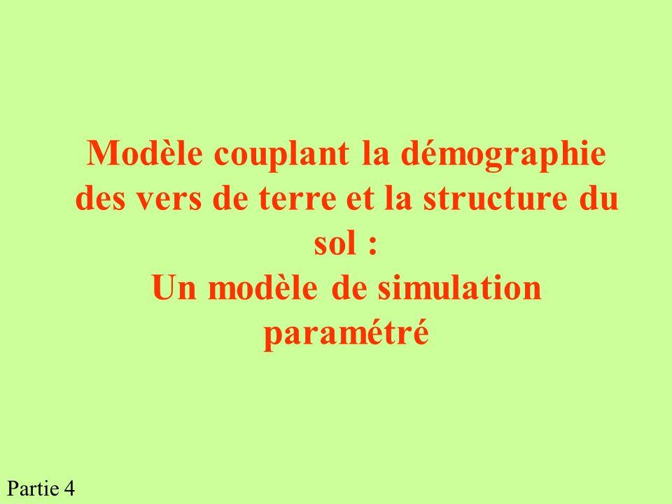 Modèle couplant la démographie des vers de terre et la structure du sol : Un modèle de simulation paramétré