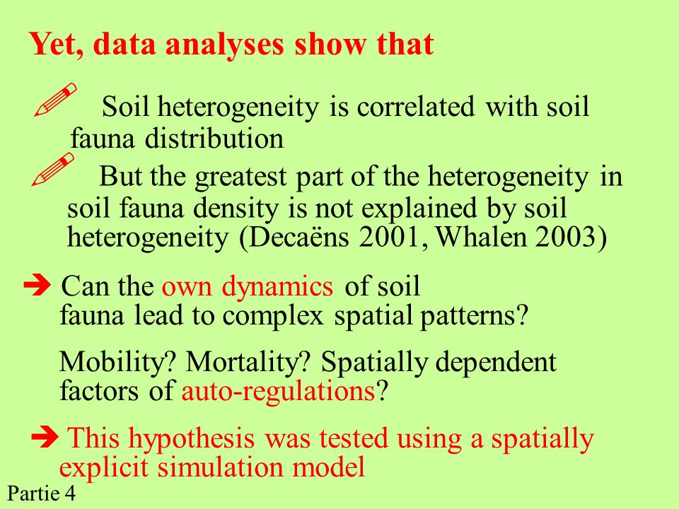  Soil heterogeneity is correlated with soil fauna distribution