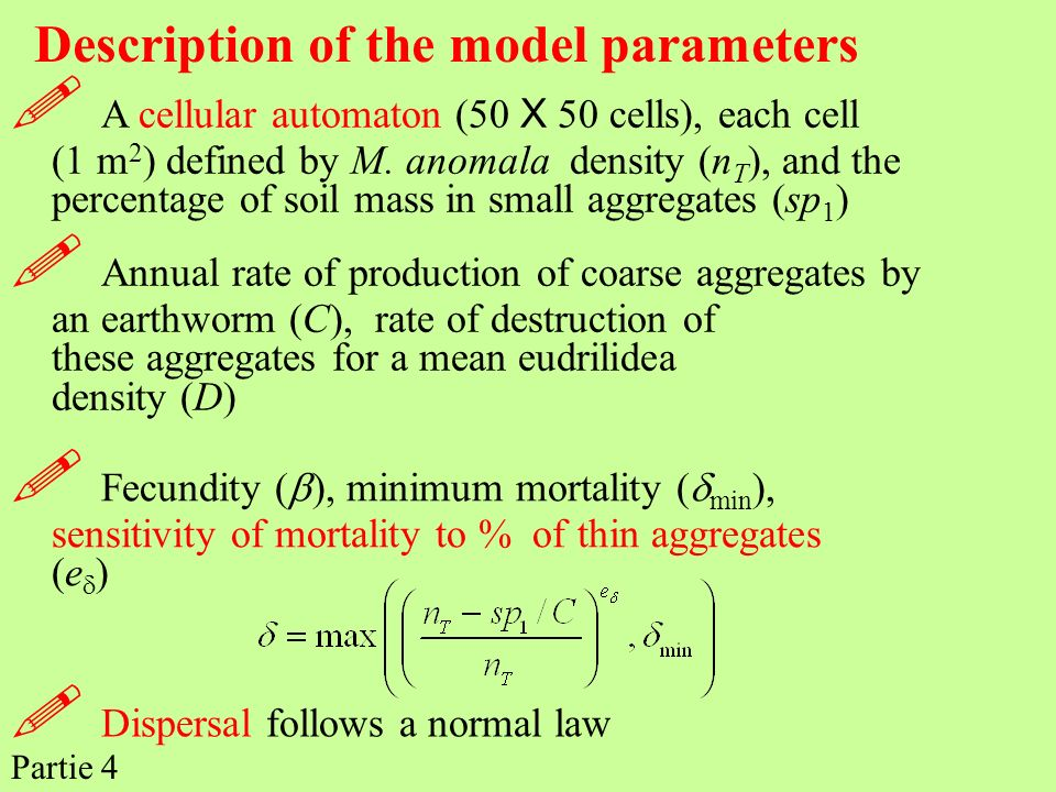  Dispersal follows a normal law