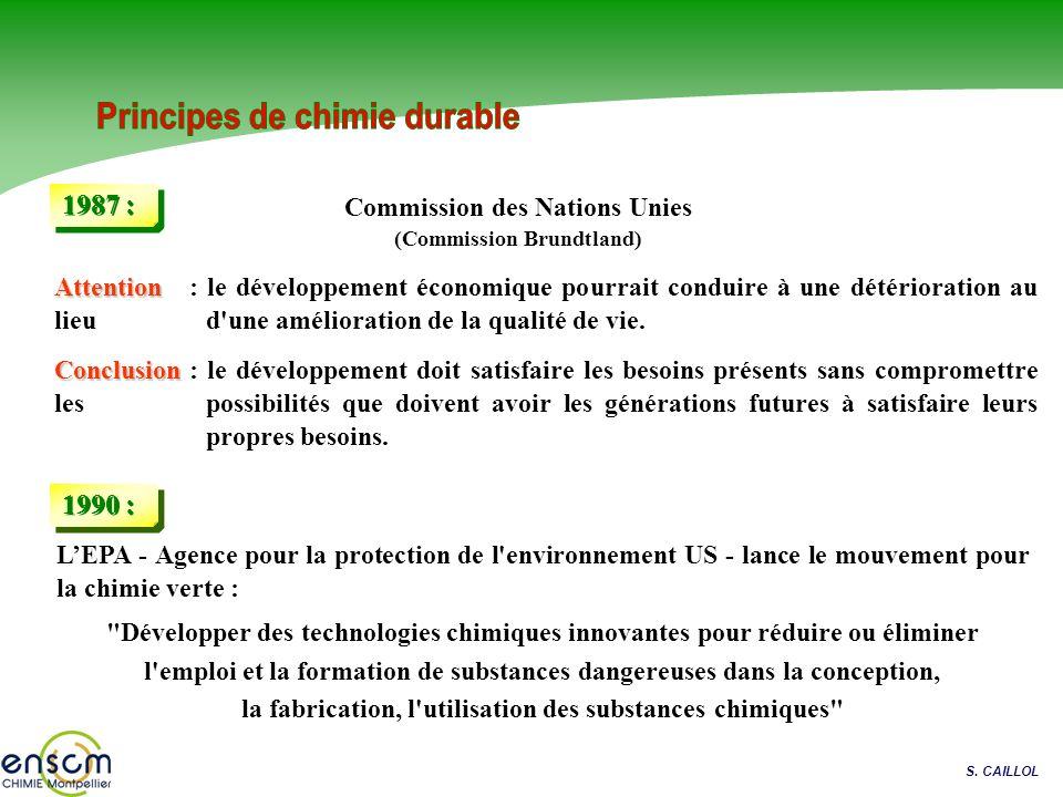 Principes de chimie durable