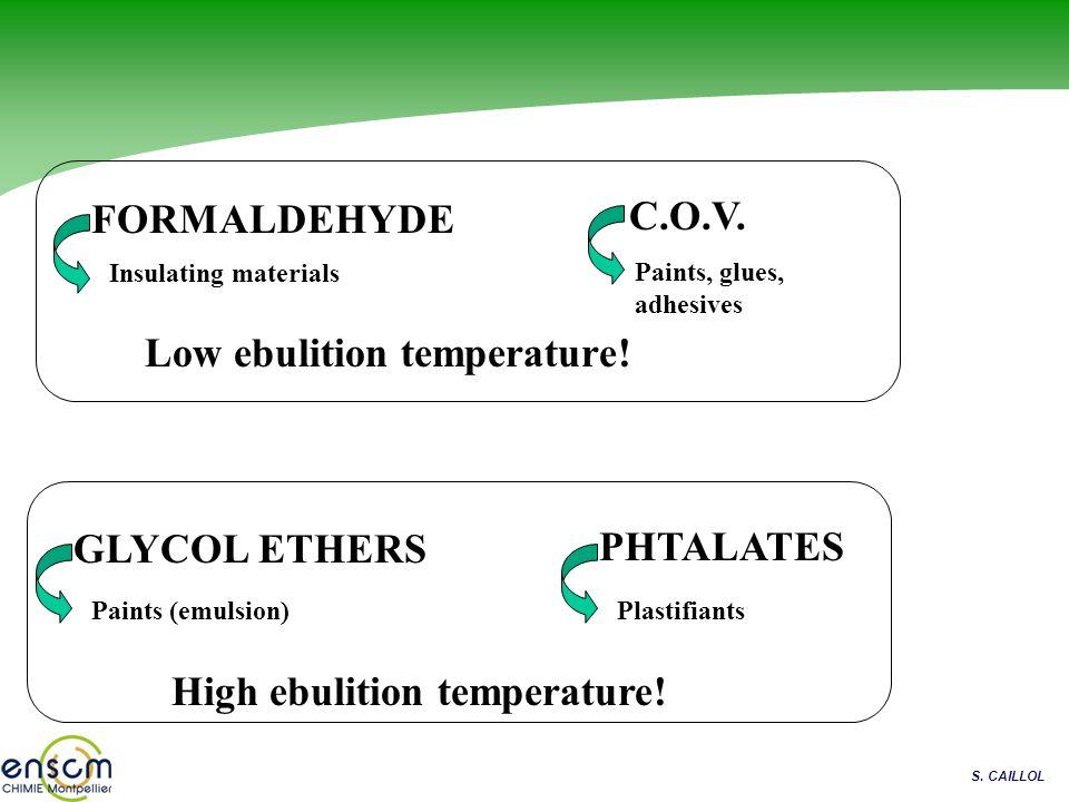 Low ebulition temperature!