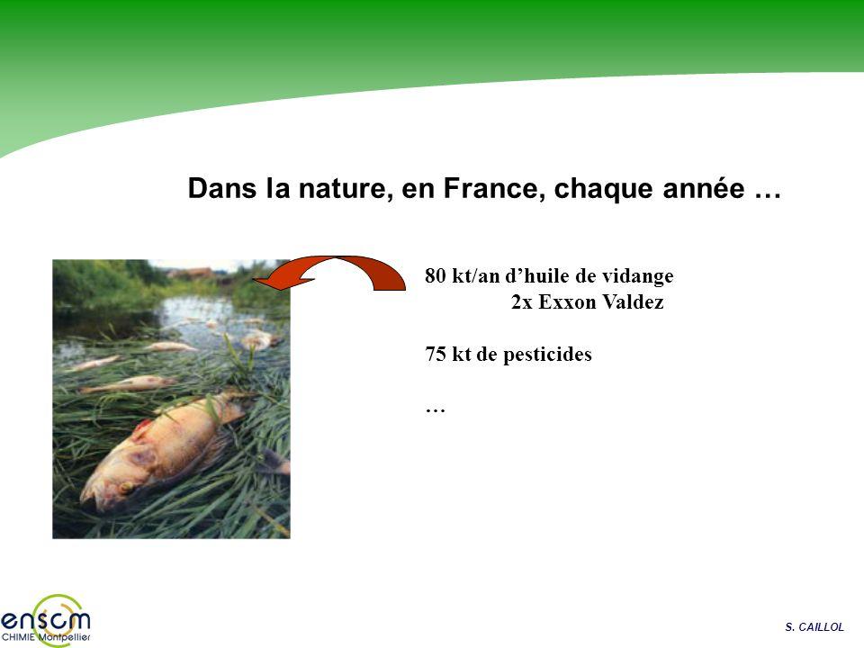 Dans la nature, en France, chaque année …