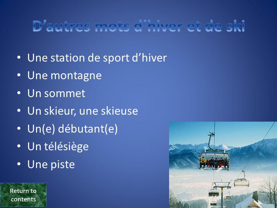 D'autres mots d'hiver et de ski