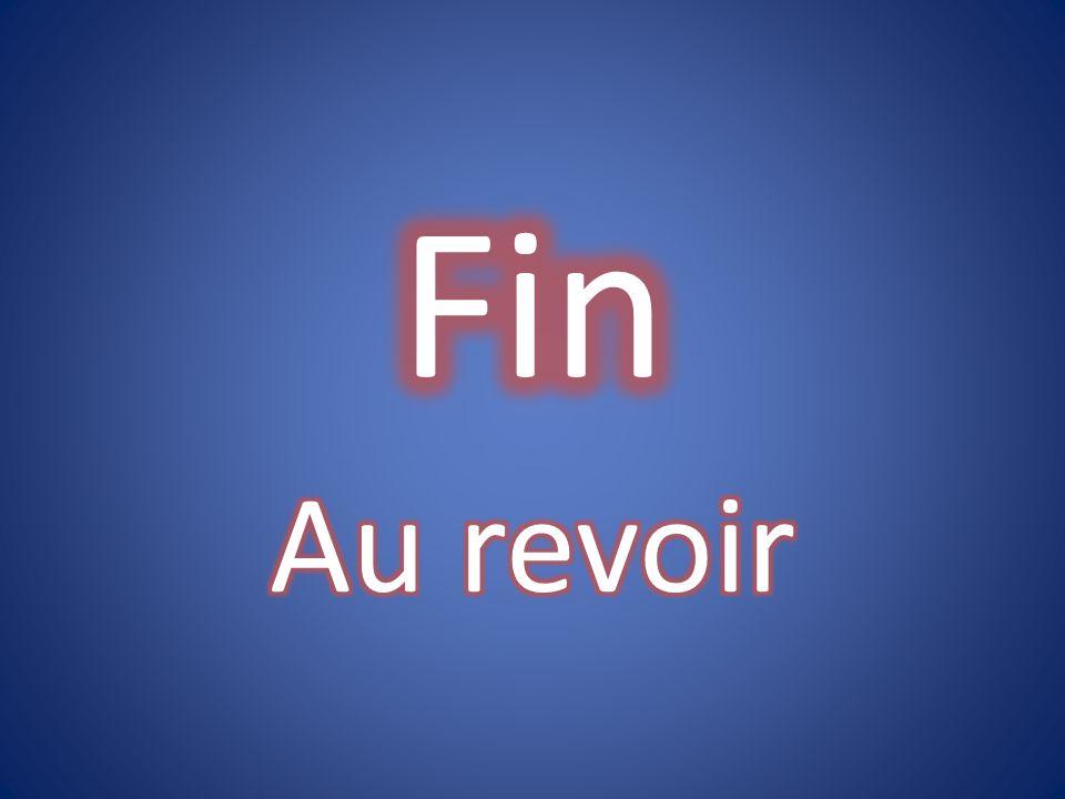 Fin Au revoir