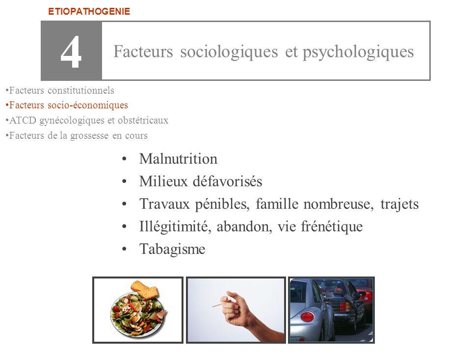 4 Facteurs sociologiques et psychologiques Malnutrition