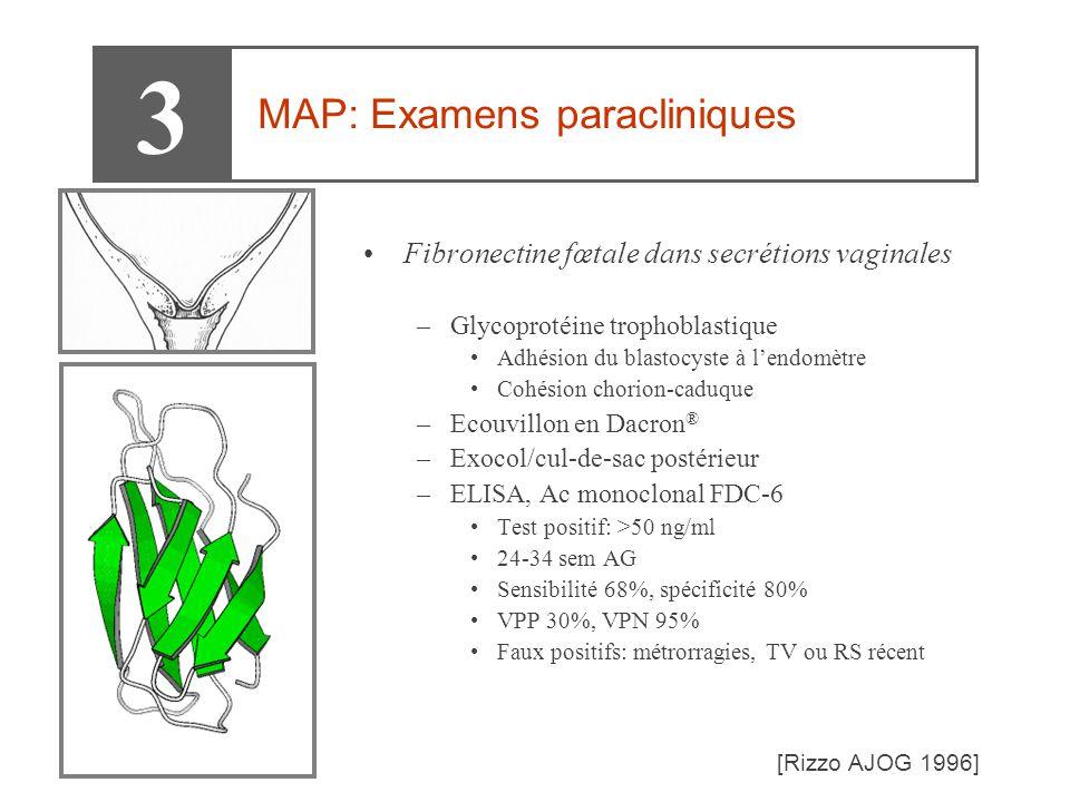 3 MAP: Examens paracliniques