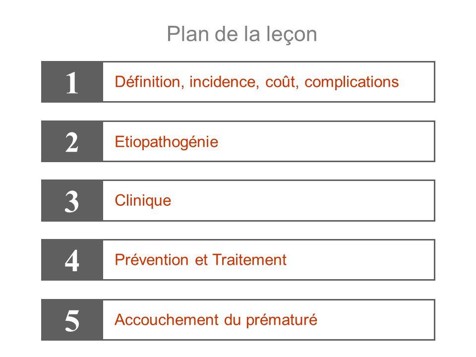 1 3 4 5 2 Plan de la leçon Définition, incidence, coût, complications