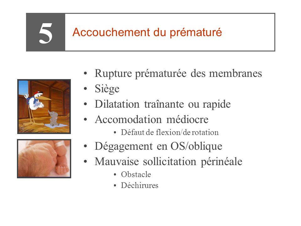 5 Accouchement du prématuré Rupture prématurée des membranes Siège