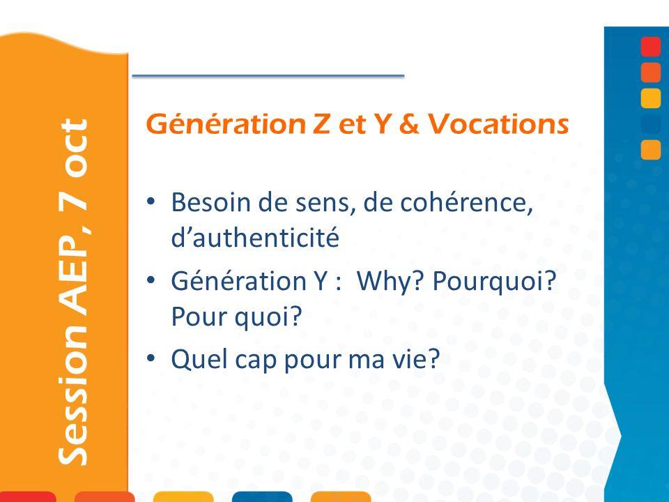 Génération Z et Y & Vocations