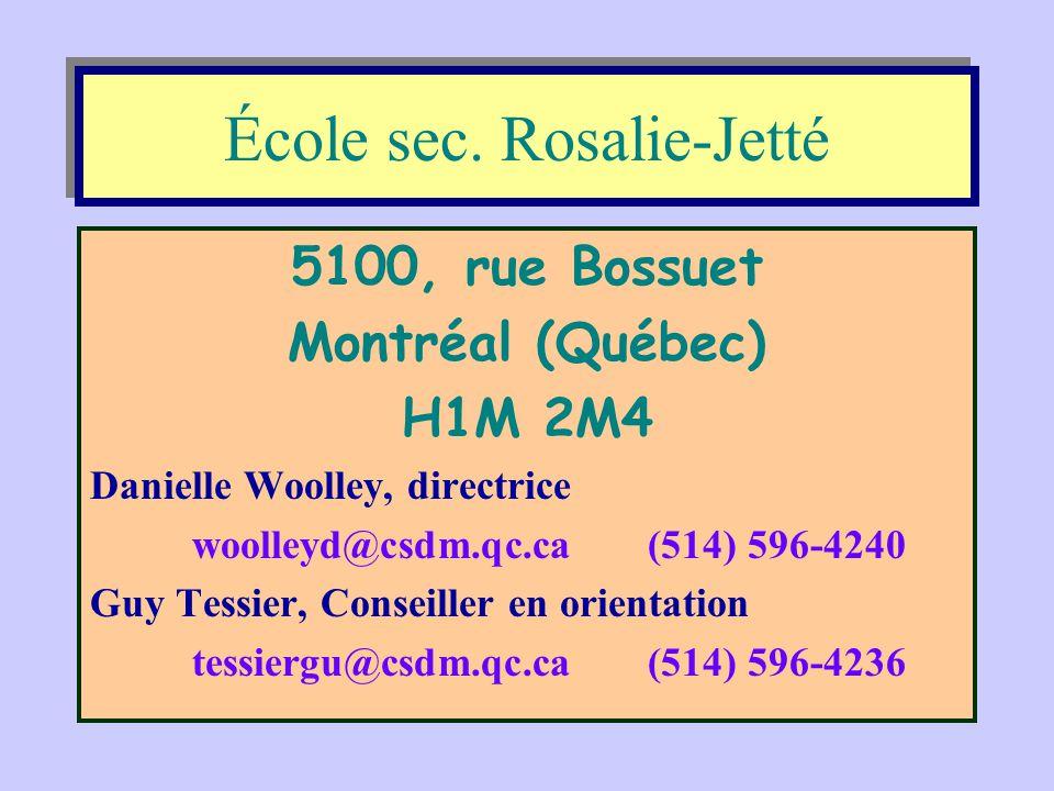 École sec. Rosalie-Jetté