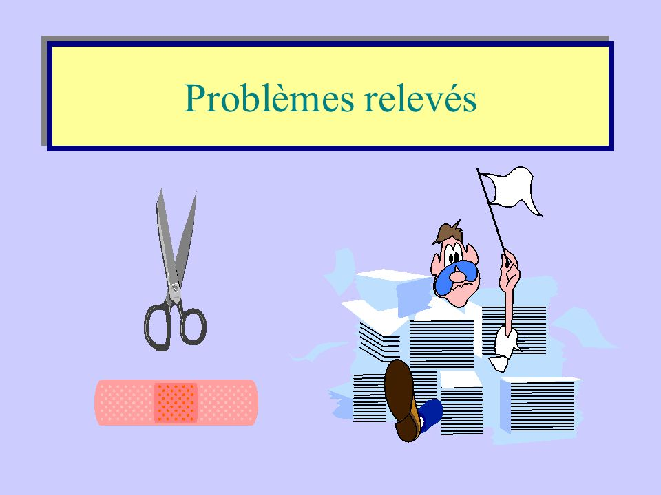 Problèmes relevés