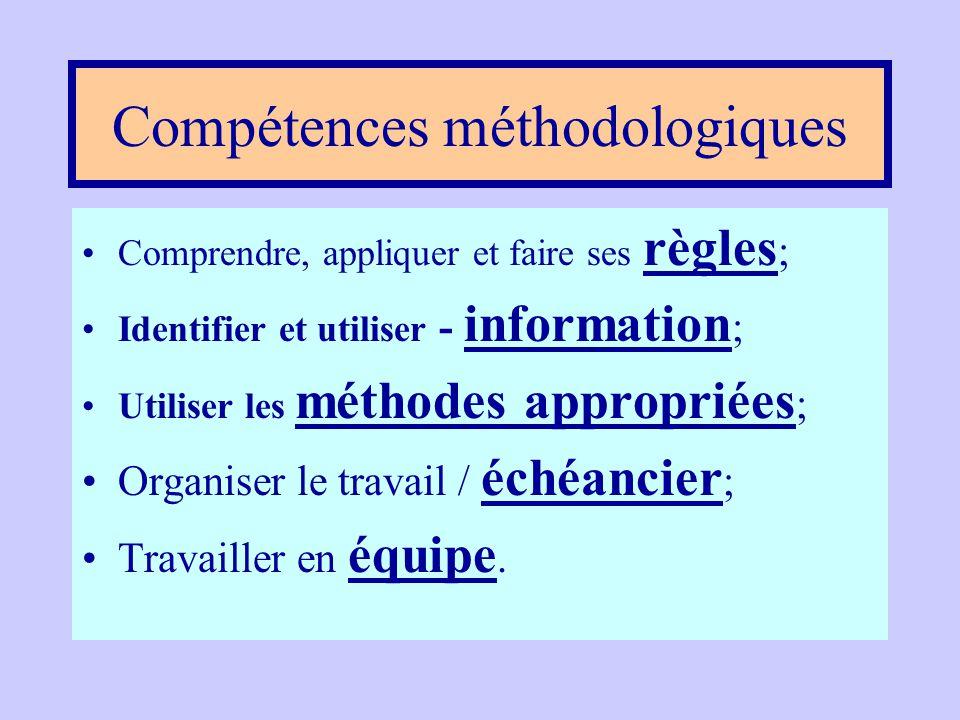 Compétences méthodologiques